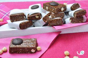 Keto hazelnoot chocolade proteïne reep