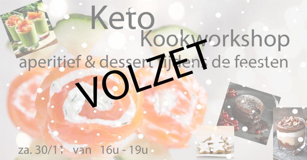 Keto kookworkshop feestdagen - aperitief en dessert - 30.11.19 - volzet