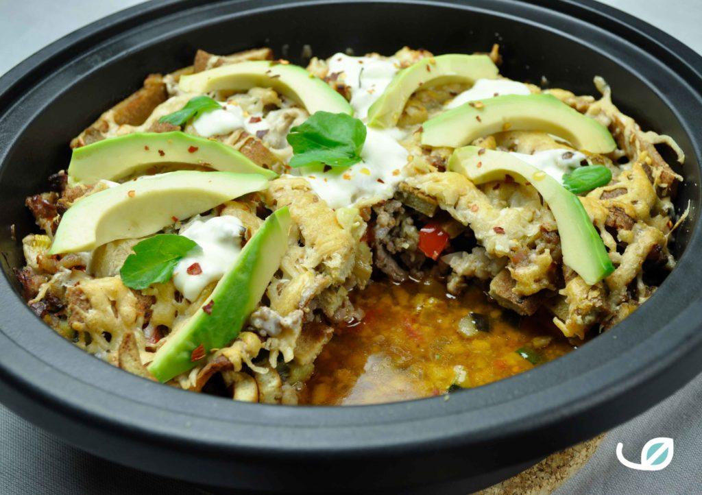 Keto mexicaanse tortilla schotel