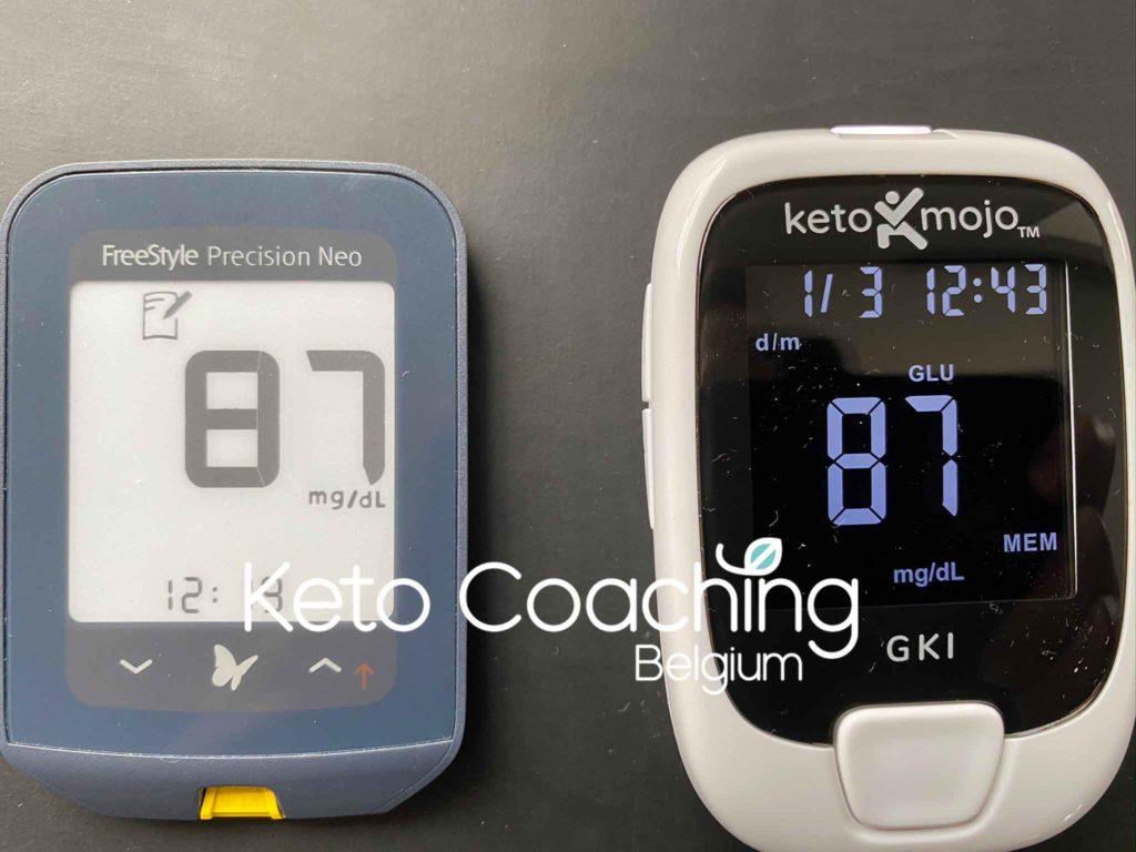 Abbott Neo Precisium versus Keto Mojo glucose meter