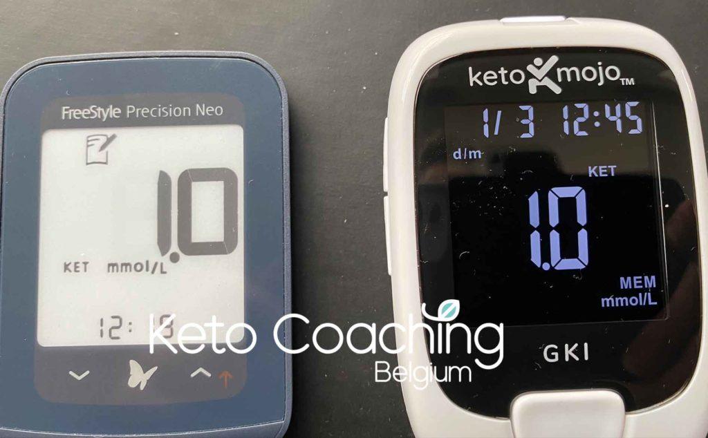 Abbott Neo Precisium versus Keto Mojo ketonen meter
