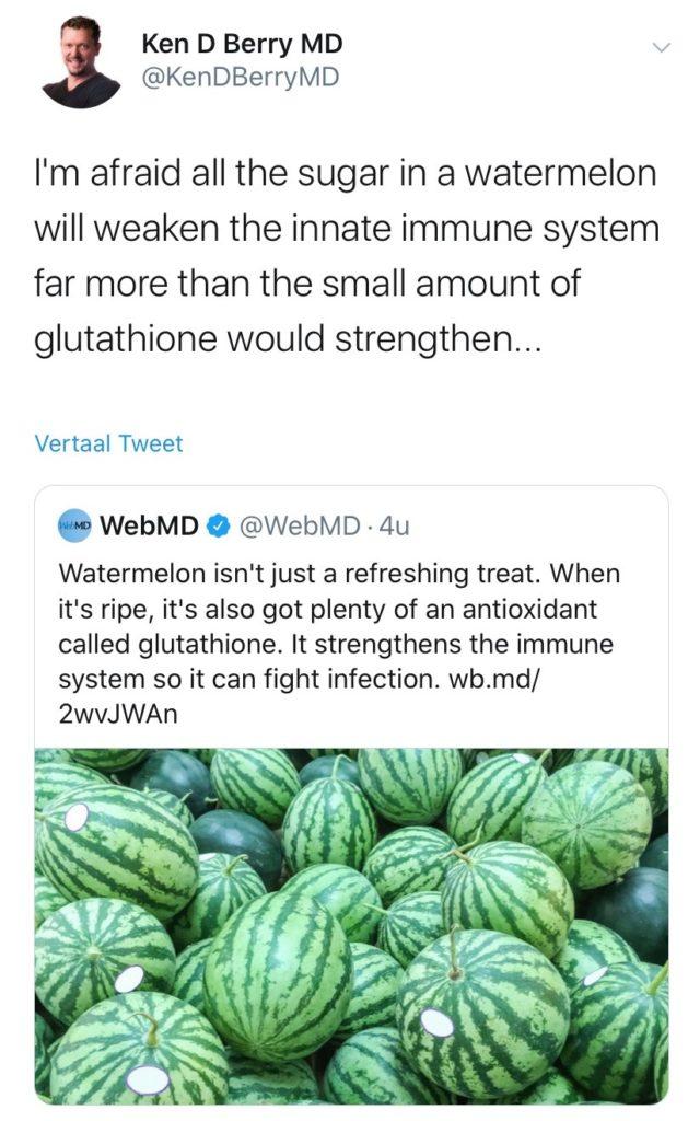 dr Ken Berry on antioxidants tweet