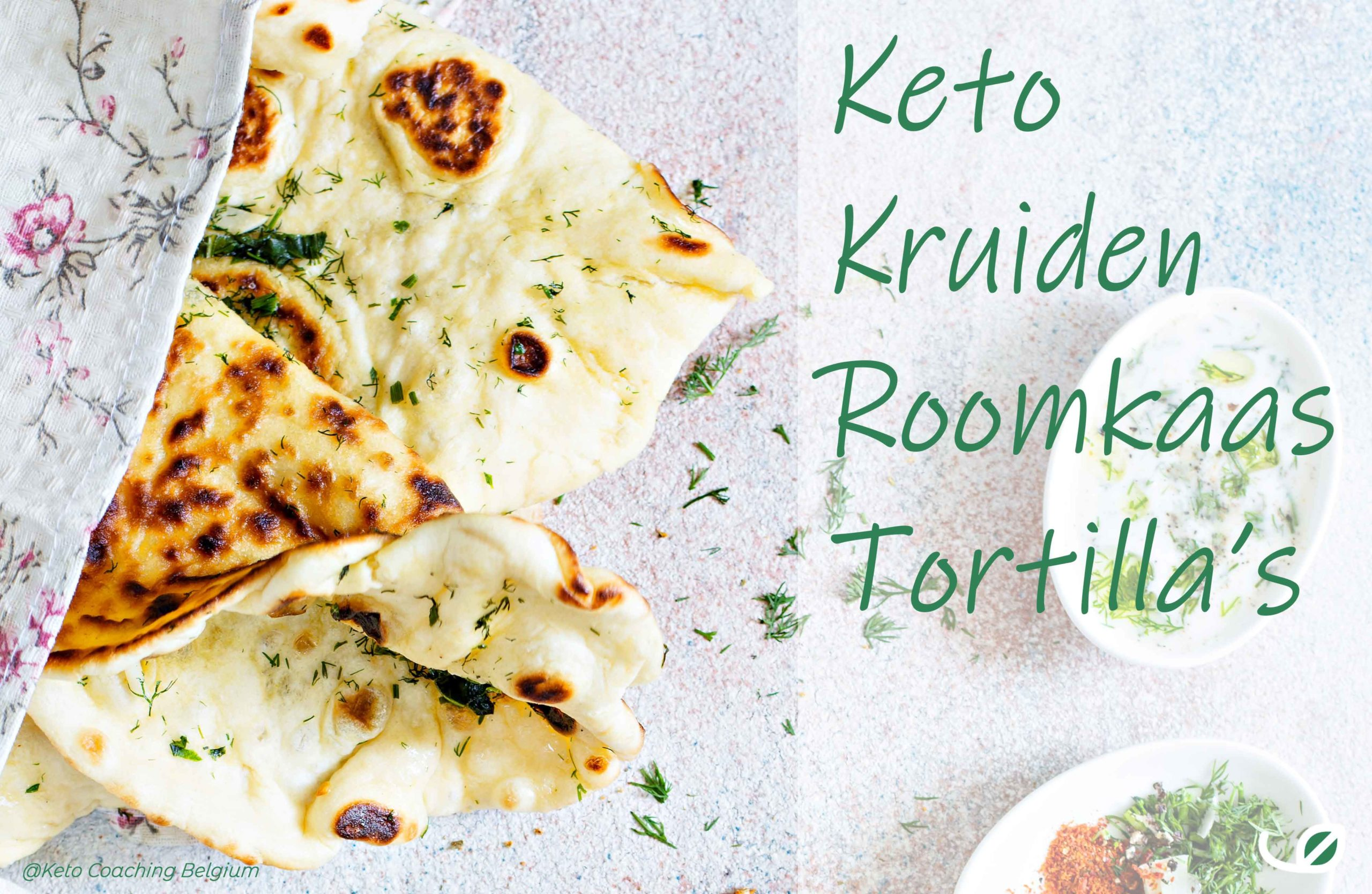 Keto Kruidenkaas roomkaas tortilla wrap