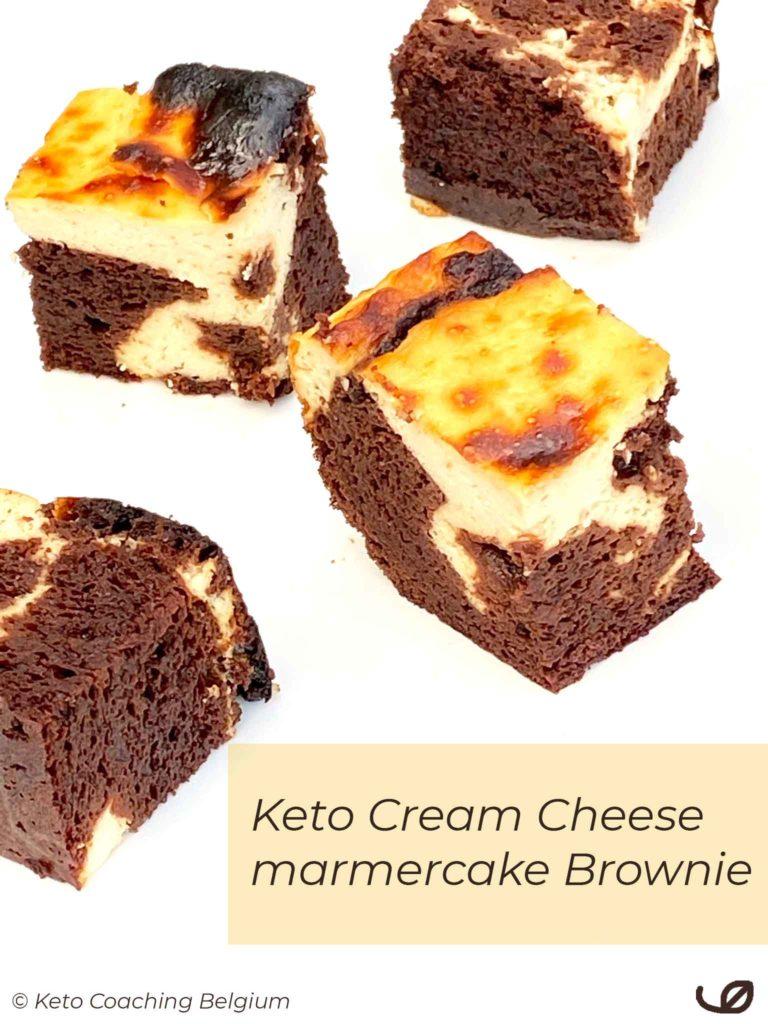 Keto Cream Cheese brownie roomkaas chocolade marmercake