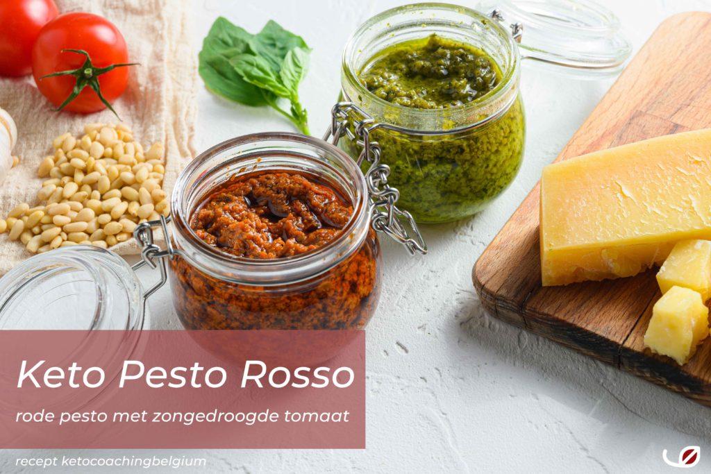 Keto Italaanse Pesto Rosso een rode pesto met zongedroogde tomaat