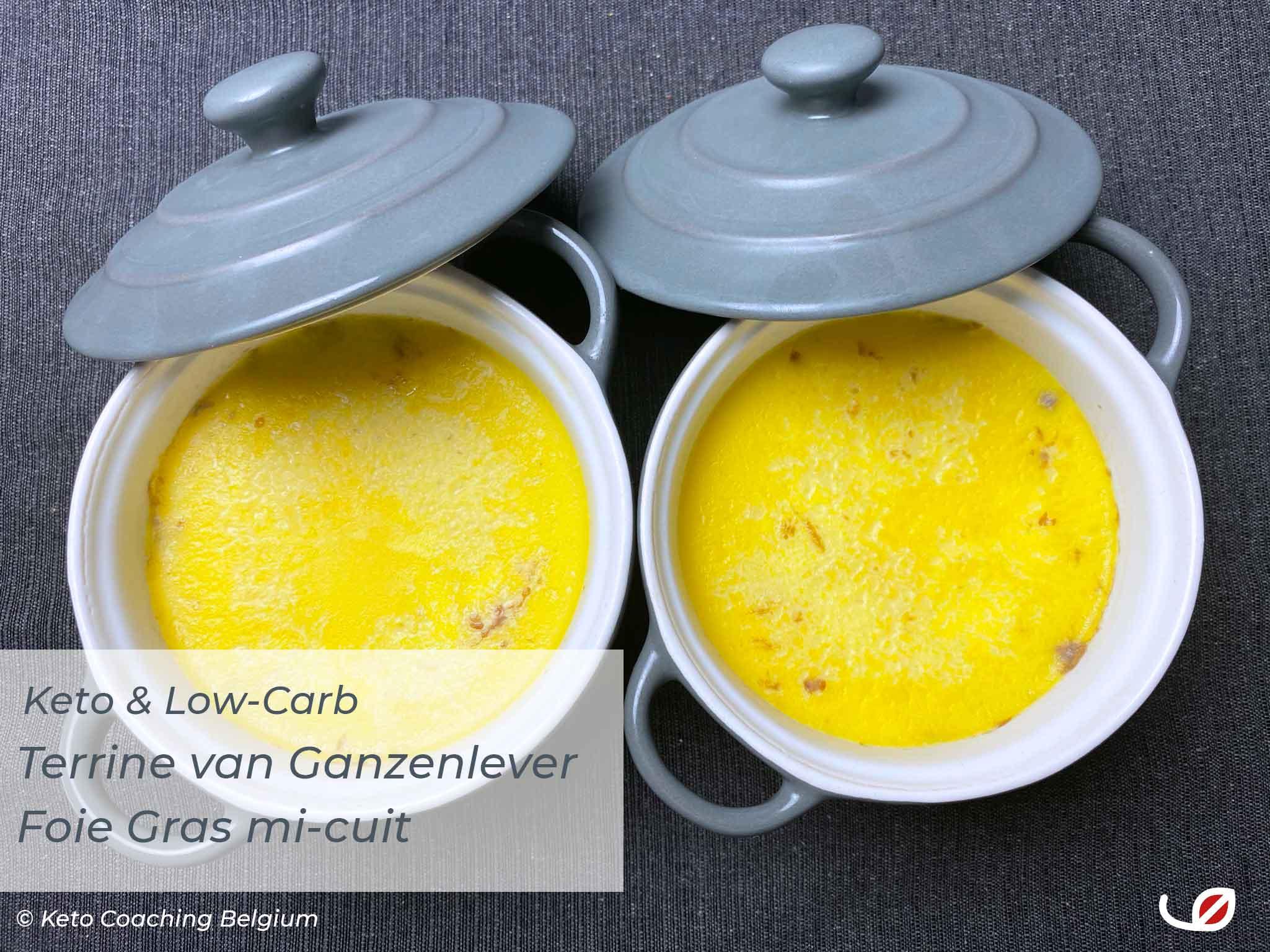 Keto Low-Carb Koolhydraatarme Terrine van ganzenlever - Foie Gras mi-cuit