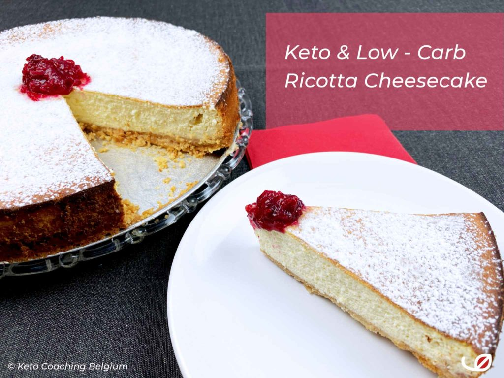 Keto & Low-Carb Ricotta Cheesecake - koolhydraatarm suikervrij glutenvrij