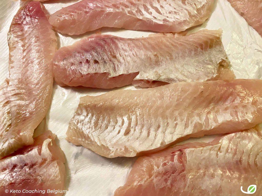 Keto dorade visfilet voor fishsticks