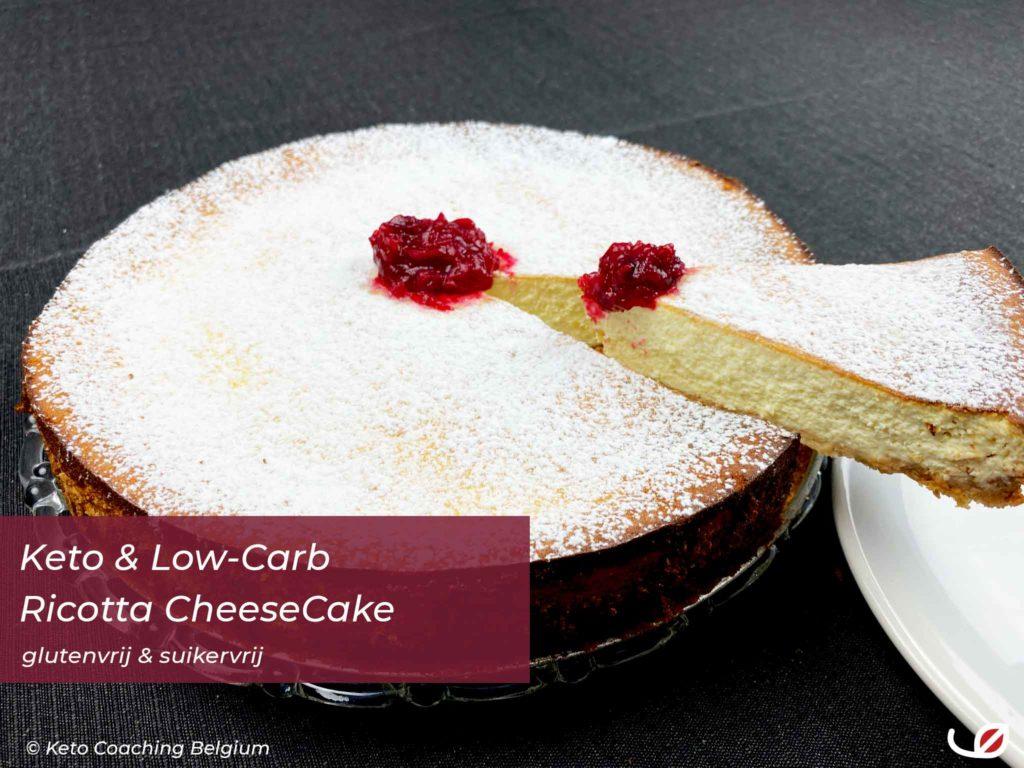 glutenvrij en suikervrije Keto en low-carb Ricotta Cheesecake