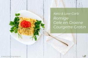 Keto en low-carb Romige gele en groene courgette gratin