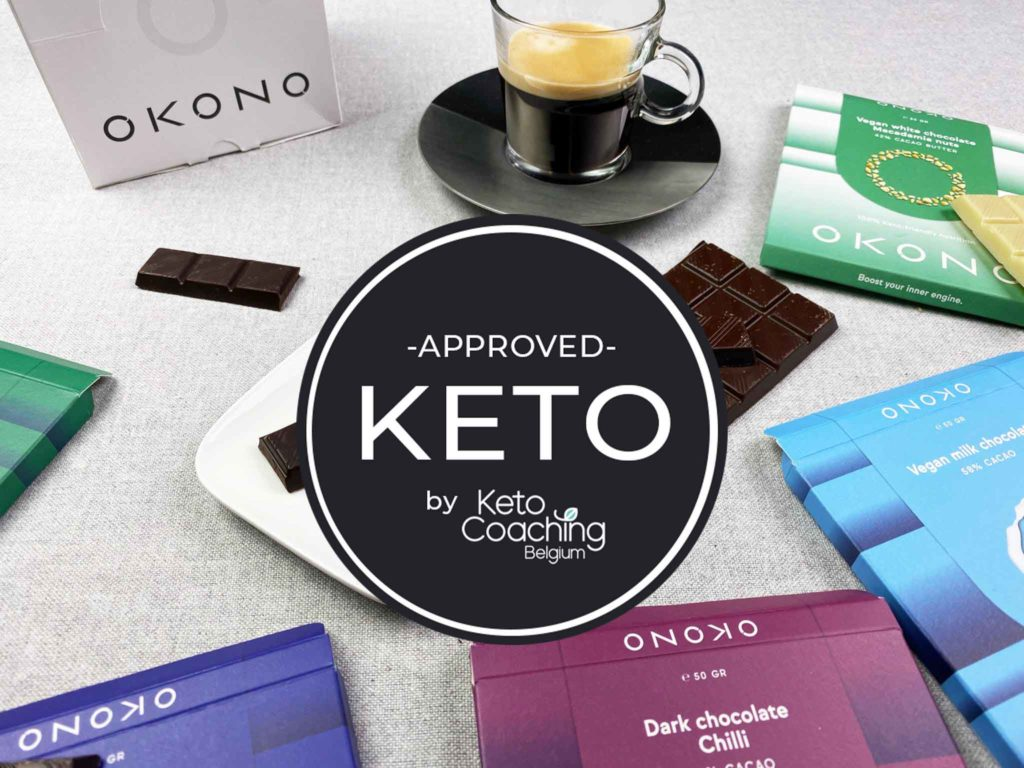 OKONO Belgische Keto Chocolade - Keto approved by Keto Coaching Belgium