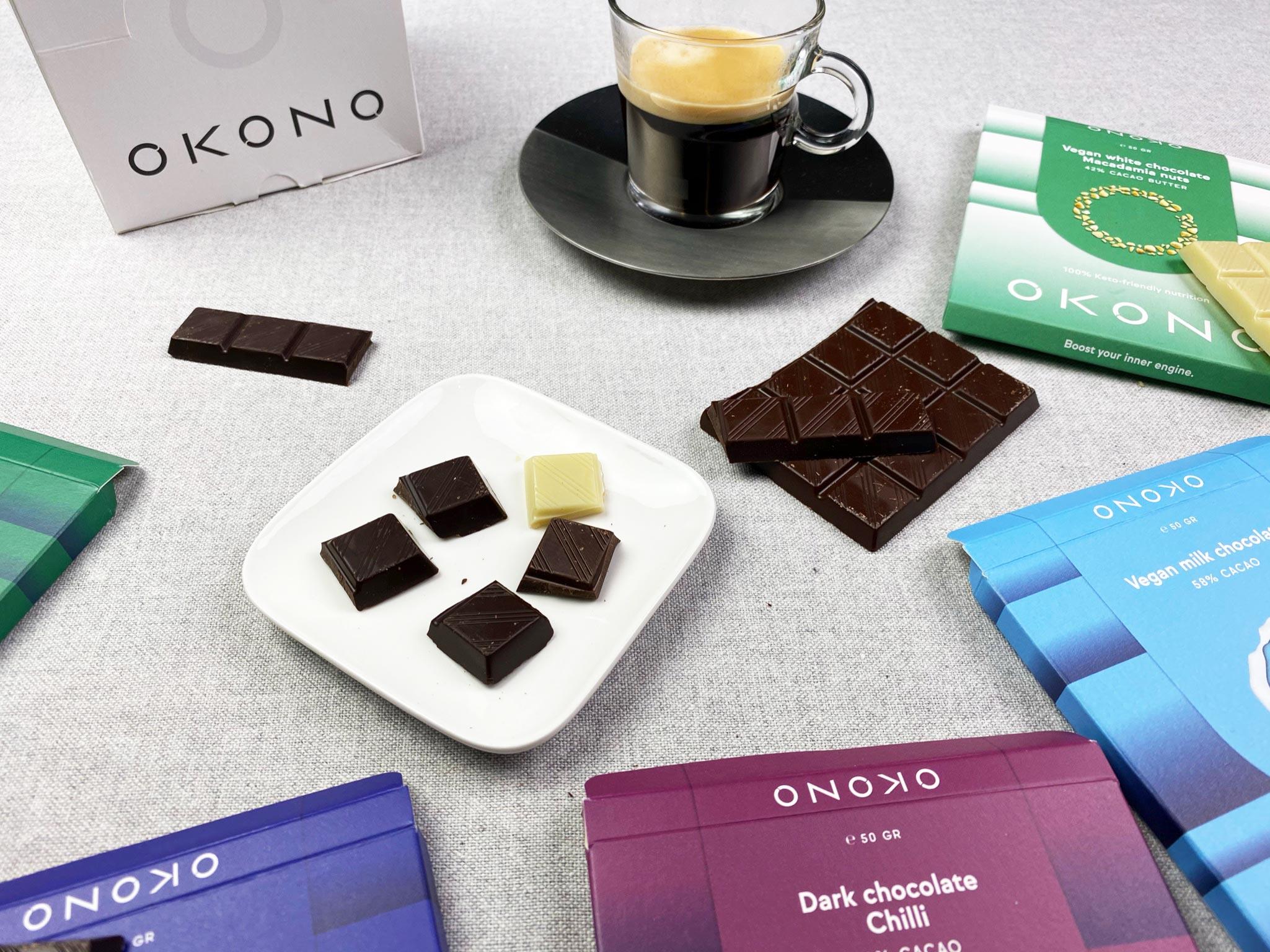 OKONO Belgische Keto Chocolade review