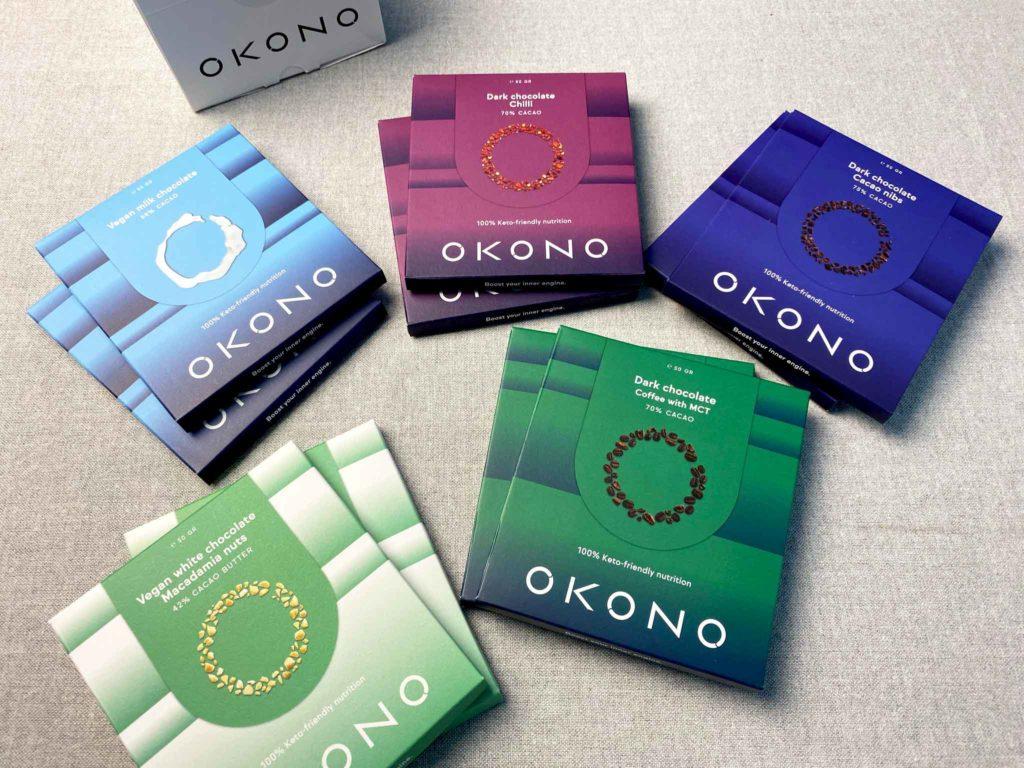 Okono chocolate keto variety
