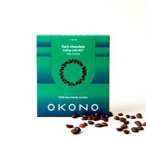 Okono dark chocolate coffee MCT keto chocolade