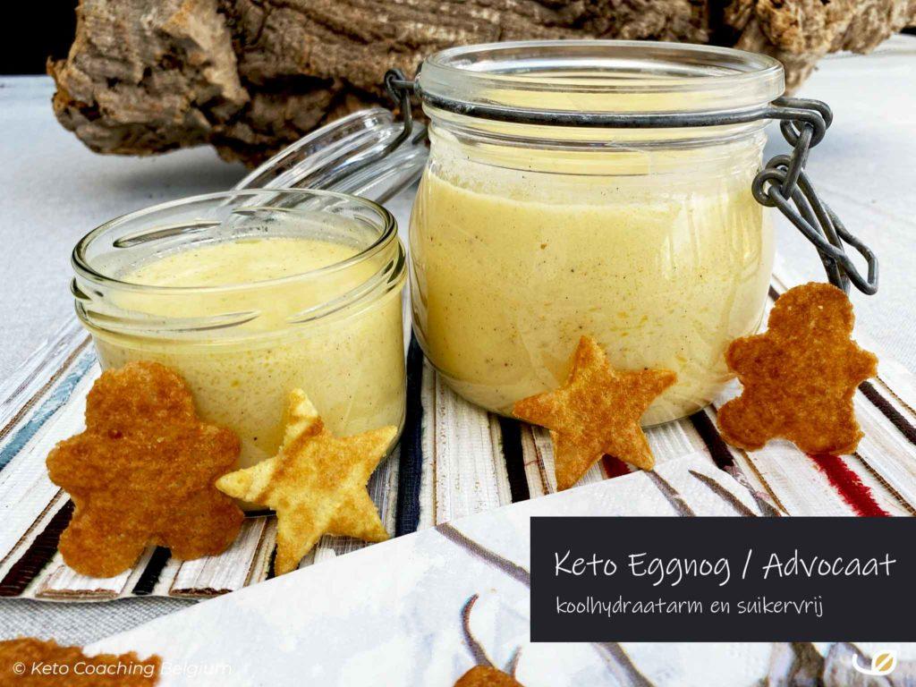 Keto - low-carb eggnog - koolhydraatarme en suikervrije eierlikeur - advocaat