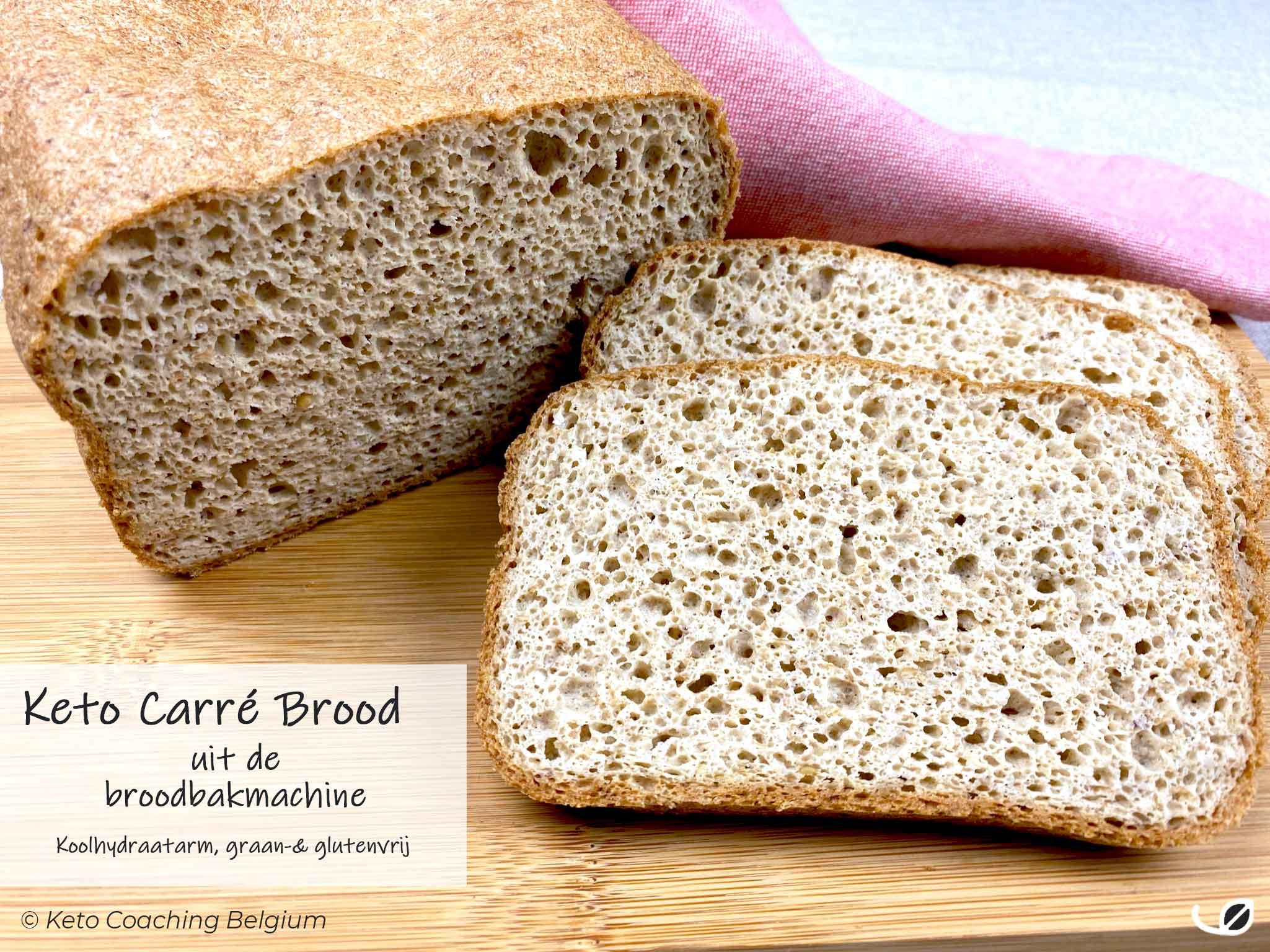 Keto Carré Pistolet brood broodbakmachine graanvrij glutenvrij koolhydraatarm
