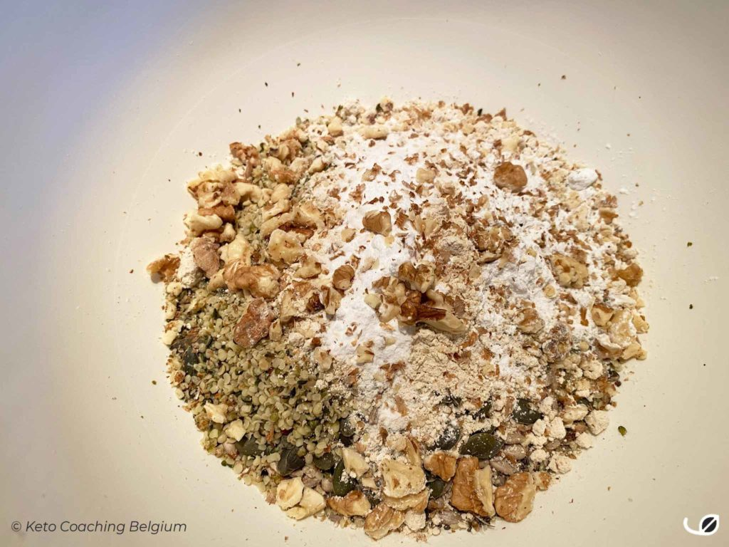 Keto koolhydraatarm glutenvrij zadenbrood meelmix