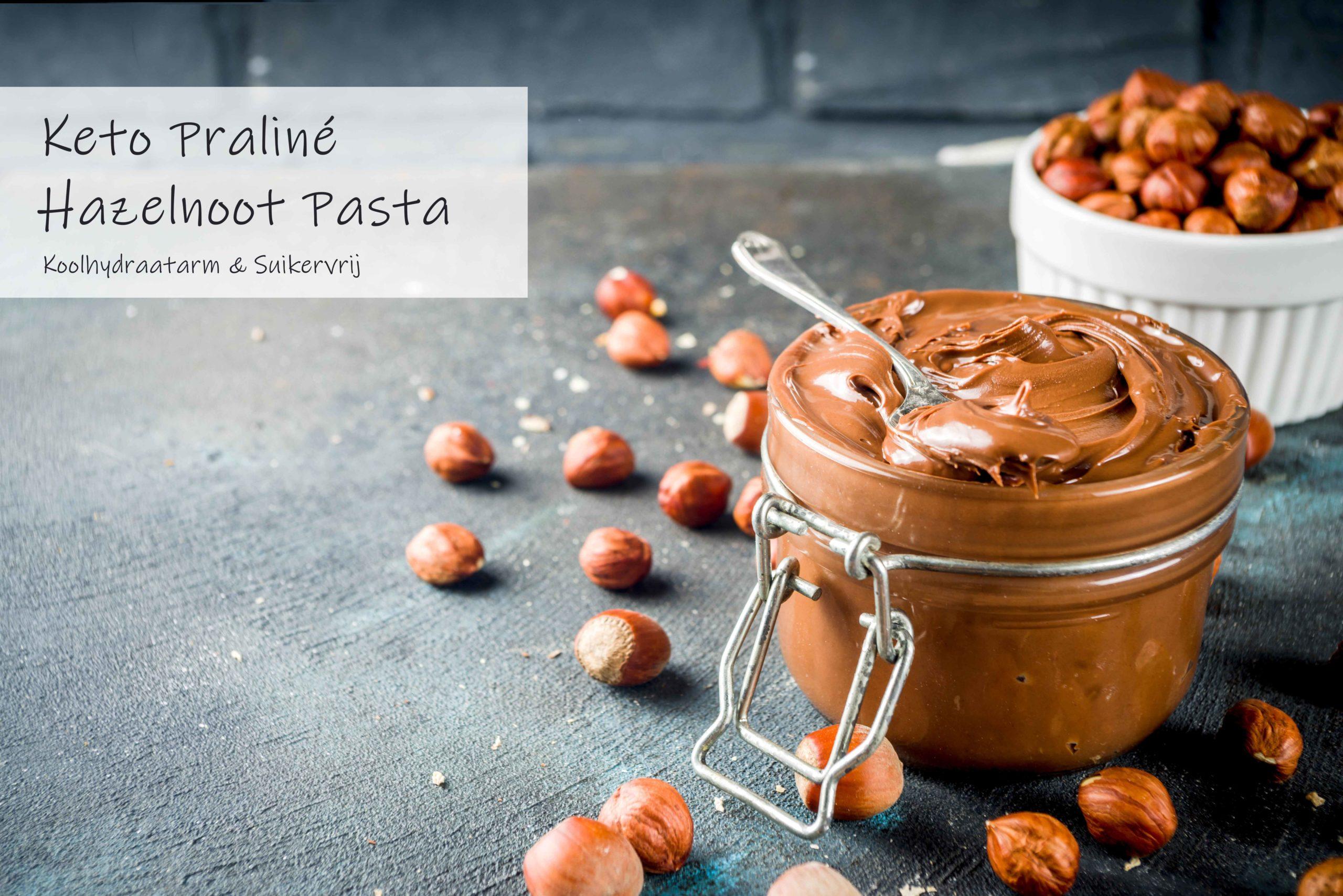 Keto Praliné Hazelnoot choco pasta suikervrij en koolhydraatarm