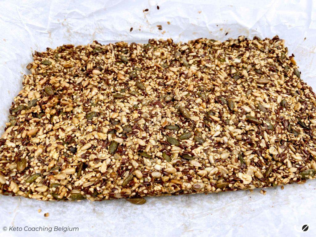 Keto multi zaden crackers