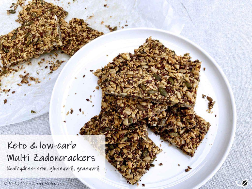 Keto multi zaden crackers koolhydraatarm graanvrij glutenvrij