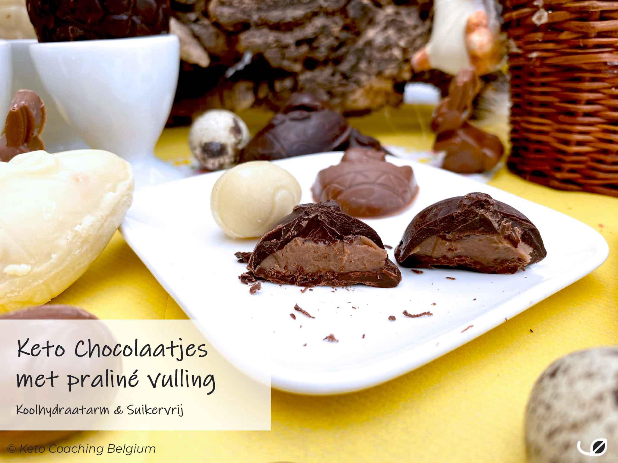 Keto paaseitjes met suikervrije praliné vulling detail recept