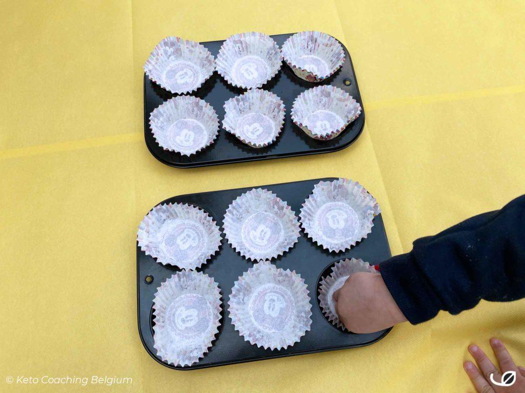 Keto Ricotta Bosbessen Muffins koolhydraatarm graanvrij glutenvrij suikervrije cupcakes