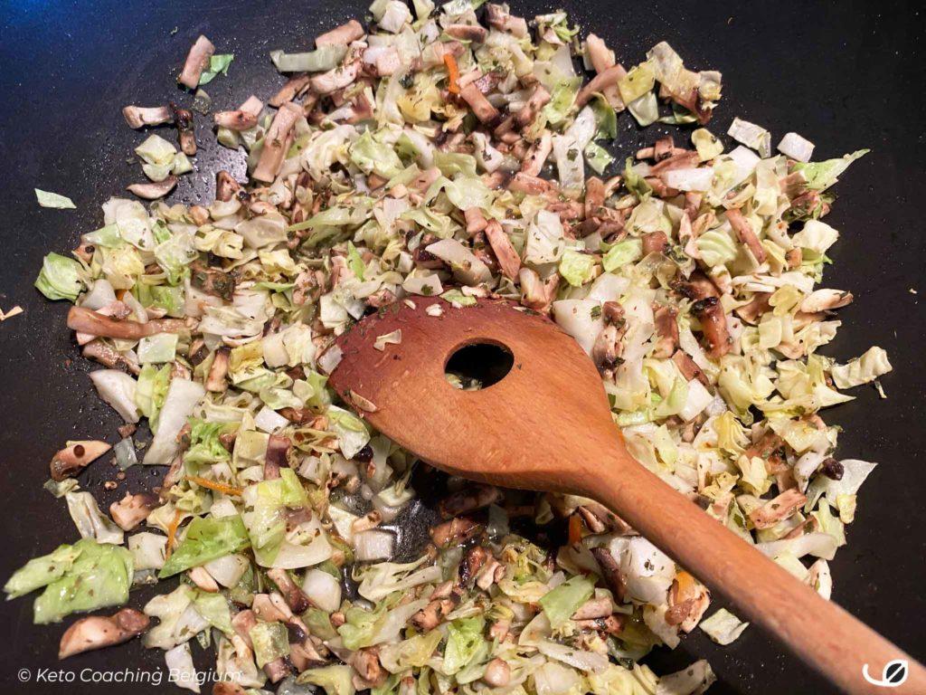 champignon spitskool groentenmengeling
