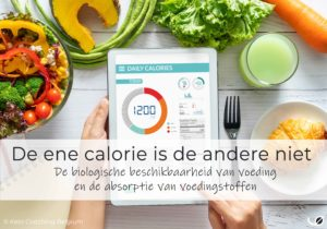 De ene calorie is de andere niet