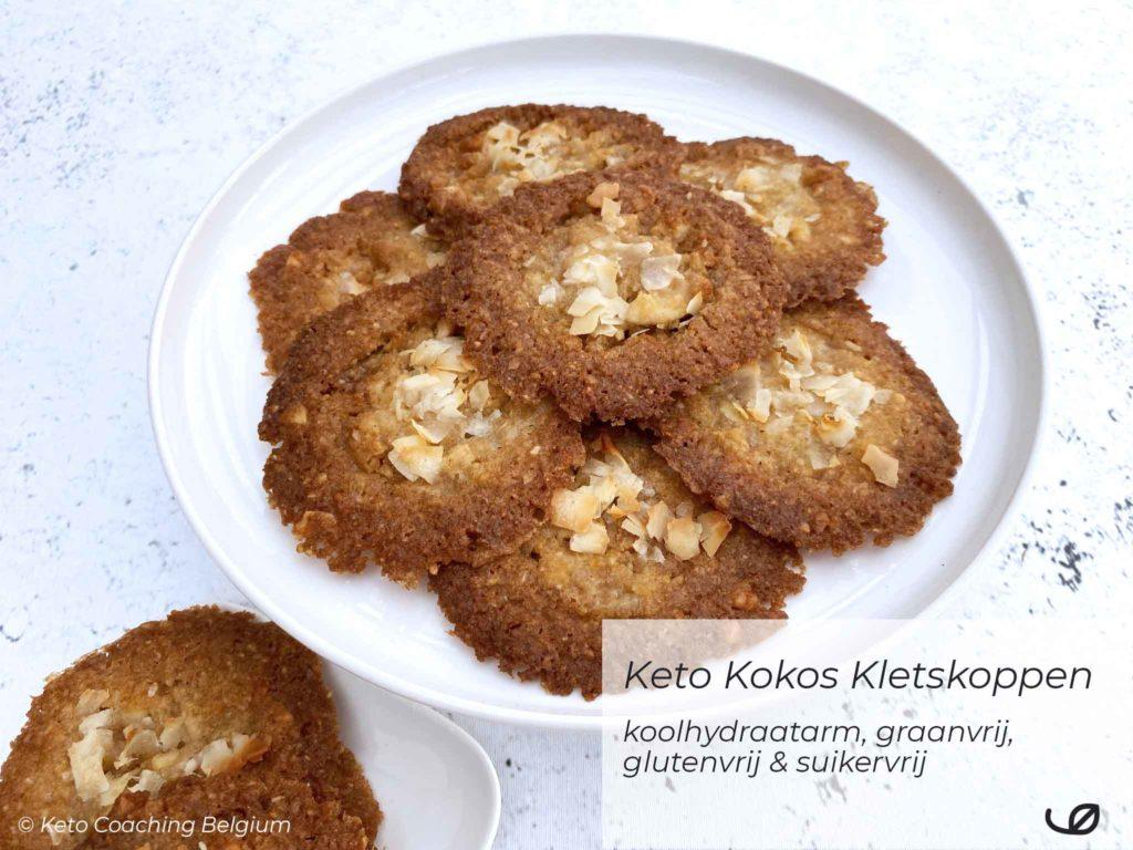 Keto Amandel Kokos kletskoppen suikervrije koolhydraatarme glutenvrije koekjes