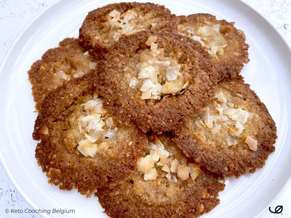 Keto Amandel en Kokos kletskoppen suikervrije koolhydraatarme glutenvrije koekjes recept