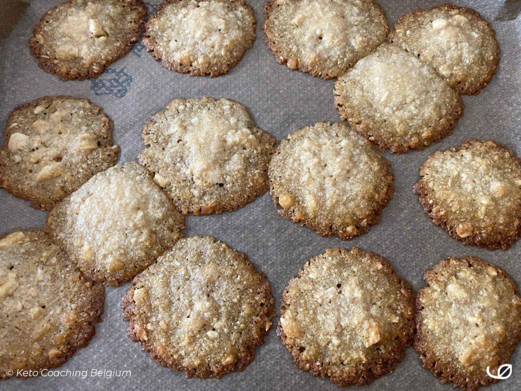 Keto kletskoppen suikervrije koolhydraatarme koekjes 1 ste bakfase