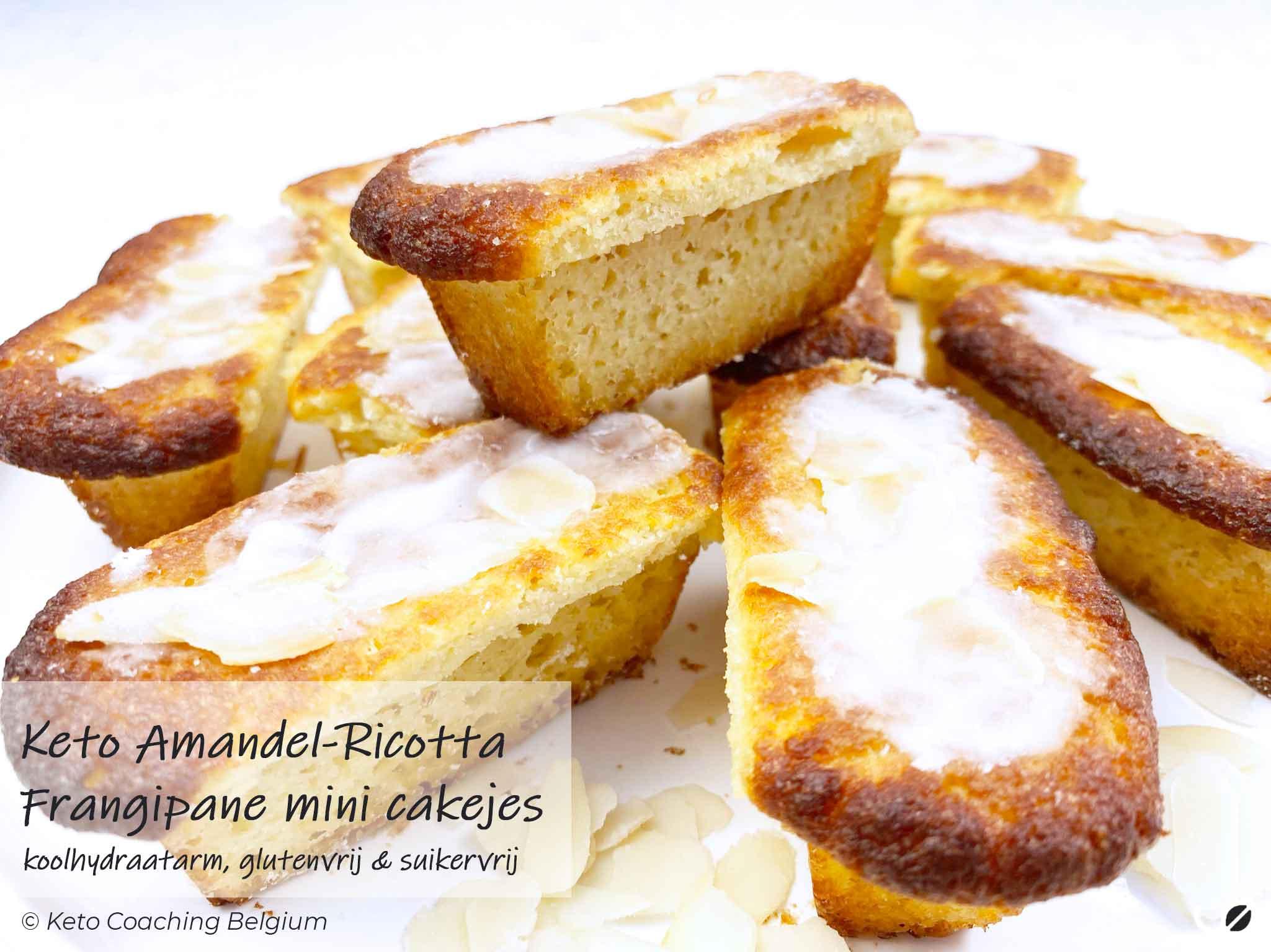 Keto amandel ricotta frangipane mini cakejes koolhydraatarm glutenvrij suikervrij recept