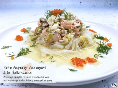 Keto aspergi visragout hollandaise asperges met vis en mousselinesaus recept