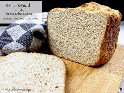 Keto low carb koolhydraatarm en graanvrij glutenvrij brood uit de broodbakmachine