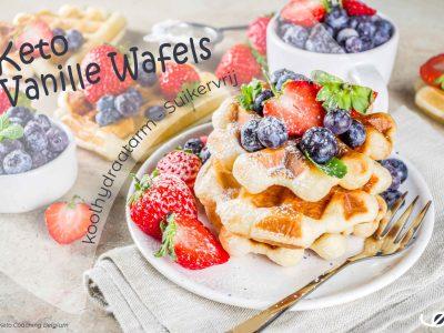 Keto suikervrije glutenvrije vanille wafels