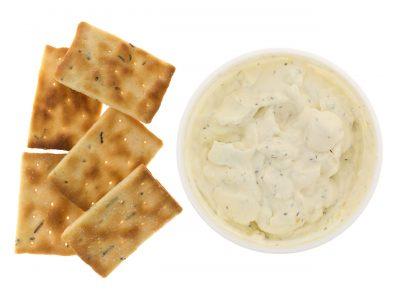 Koolhydraatarme bieslook cracker. Graanvrij, glutenvrij en eivrij